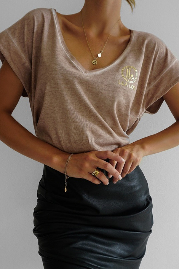 T-shirt Lila Lou beige