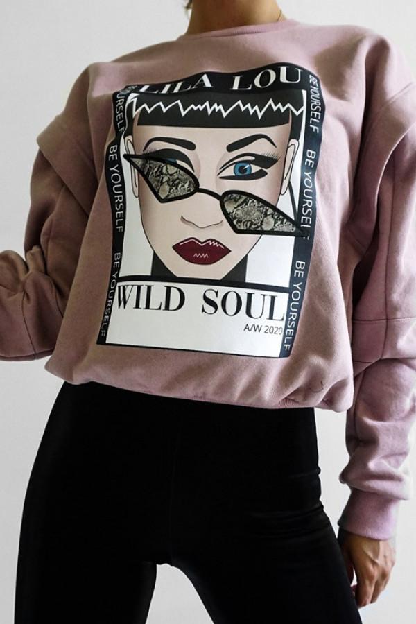 Bluza SANTOS Dirty Pink