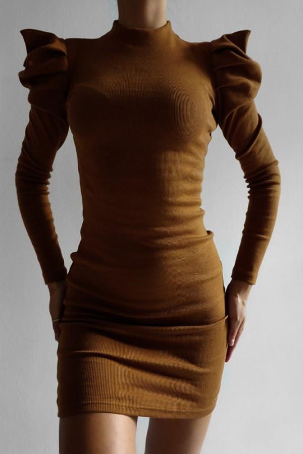 Sukienka HOLLY Koniak