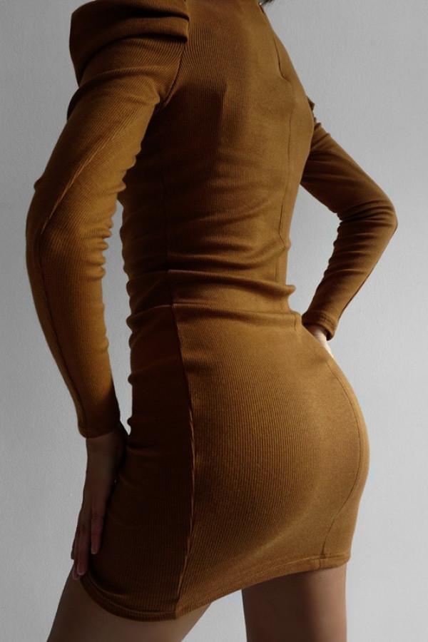 Sukienka HOLLY Koniak 1