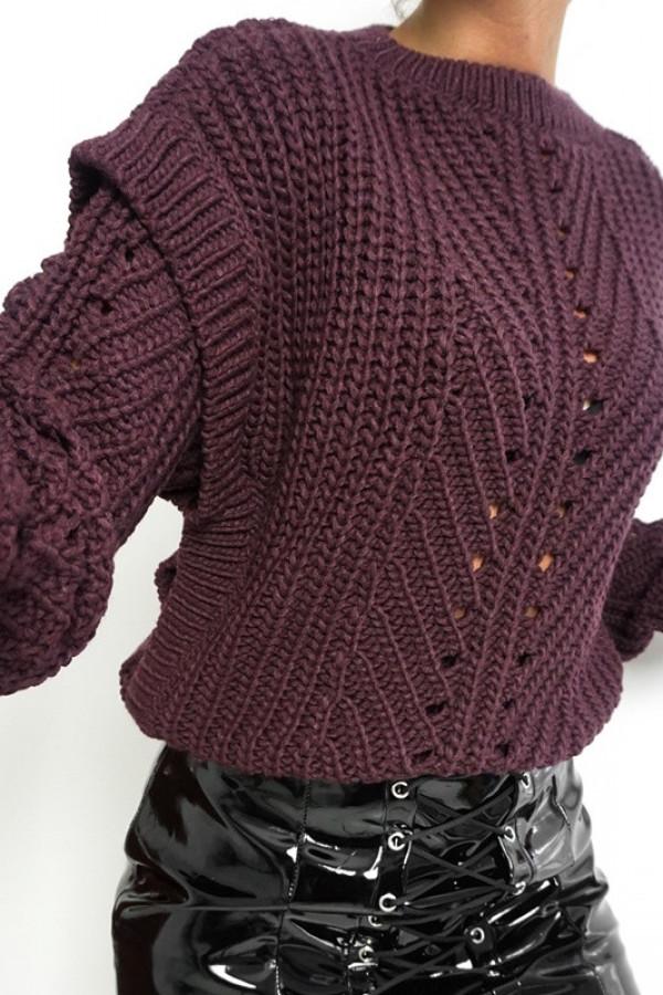 Sweter MOTYL Śliwkowy