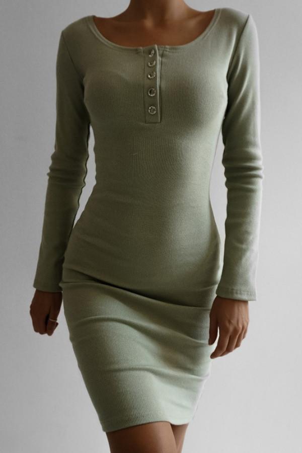 Sukienka MARTII Oliwkowy