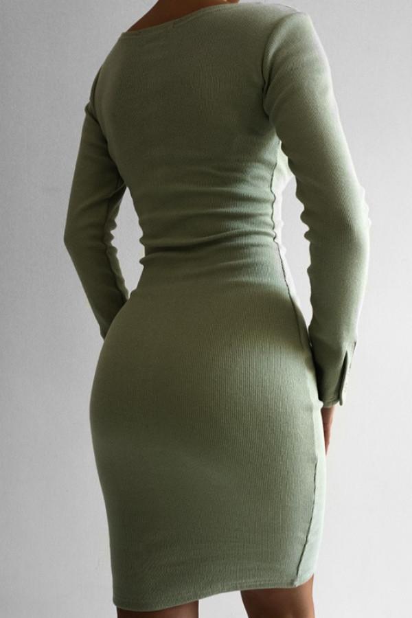 Sukienka MARTII Oliwkowy 1