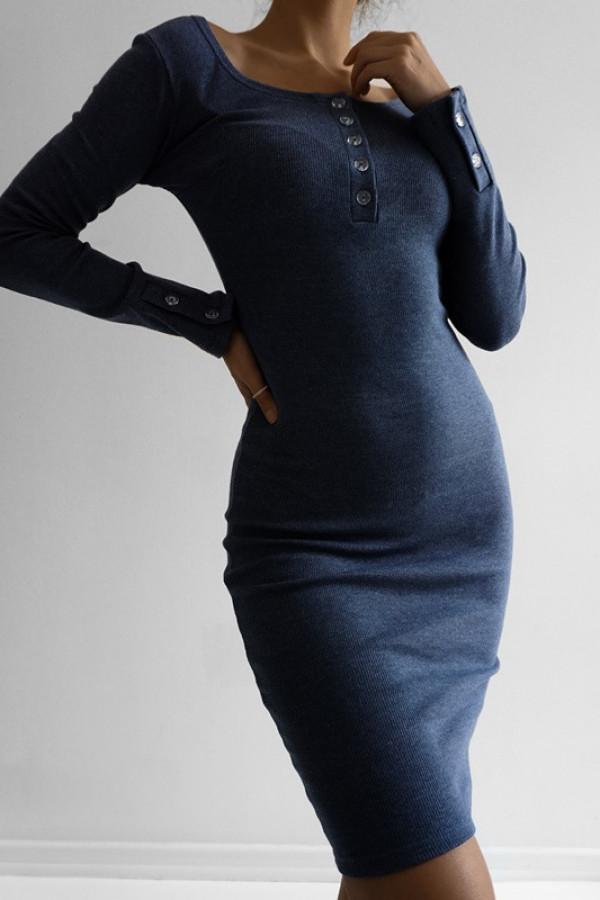 Sukienka MARTII Jeans-Melanż