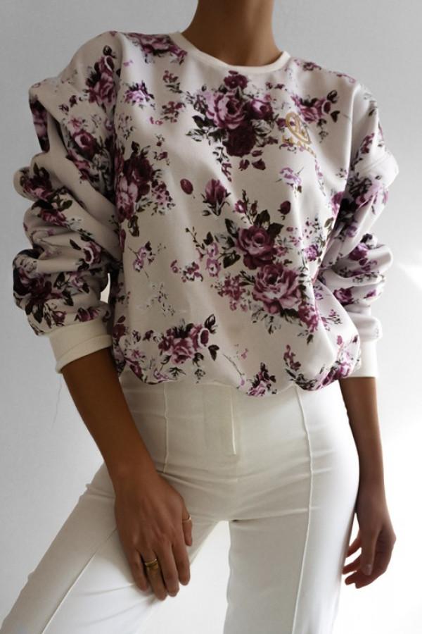 Bluza SANTOS Lila-Kwiatowy