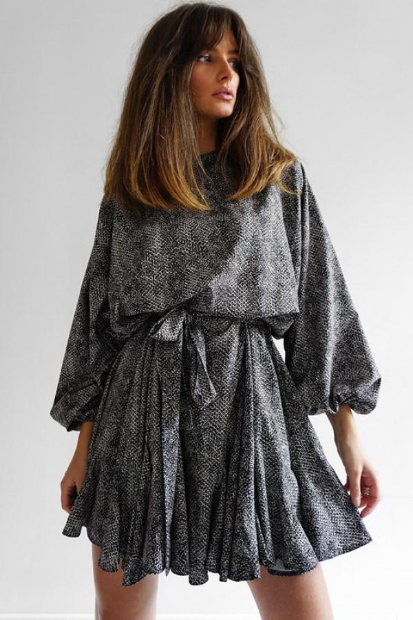 Sukienka TULUZA Beige-Wężowy