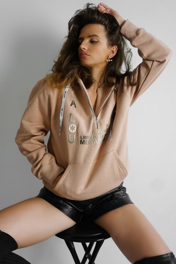Bluza ZIP Nude