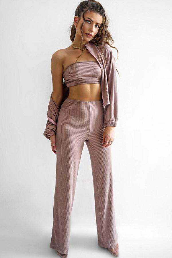 Komplet SHINY trój-set pink