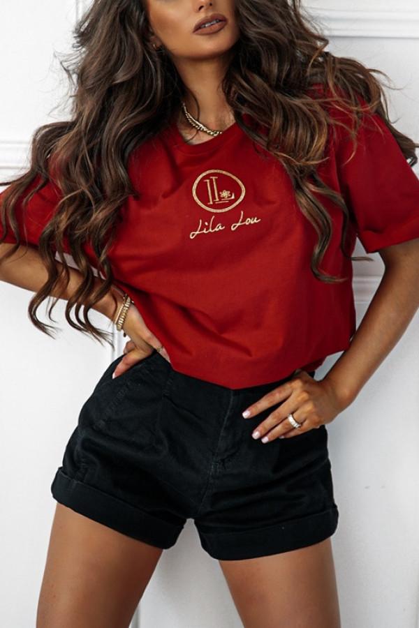 T-shirt LL BASIC red