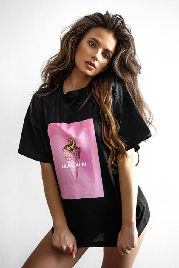 T-shirt LILALOU black-pink