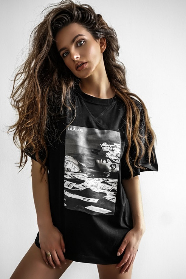 T-shirt LILALOU black-grey