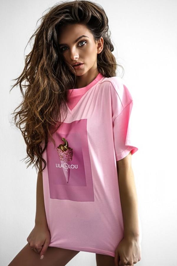 T-shirt LILALOU pink