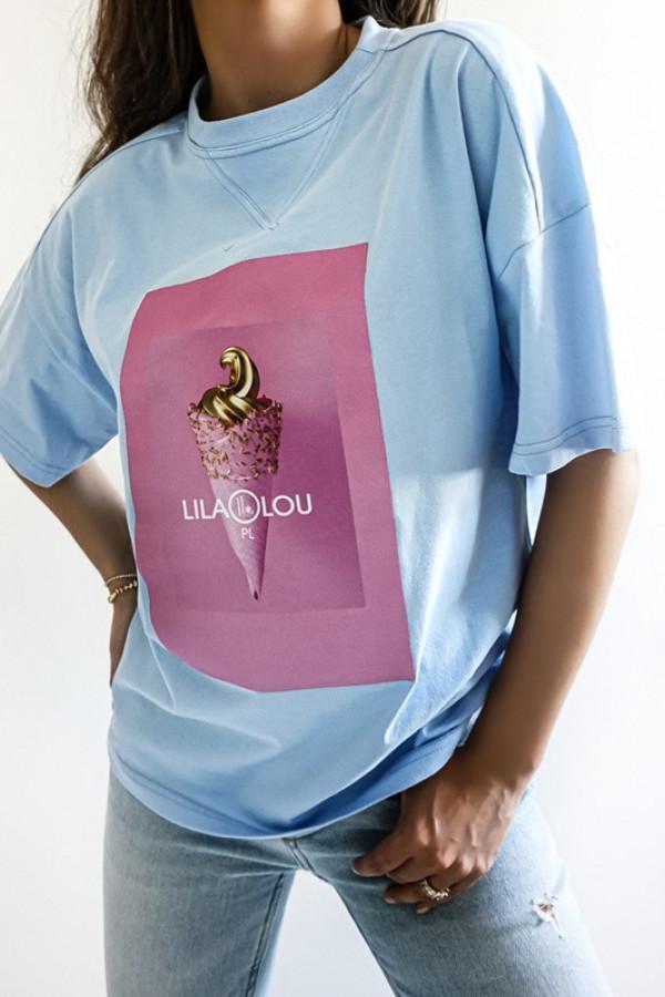 T-shirt LILALOU blue-pink