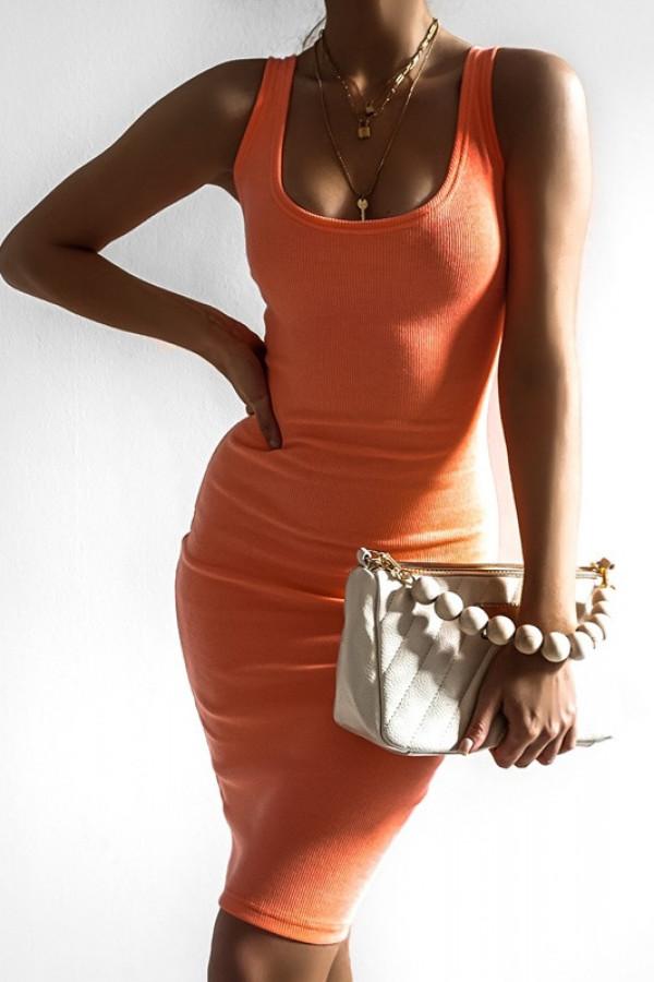 Sukienka MALWI neon orange