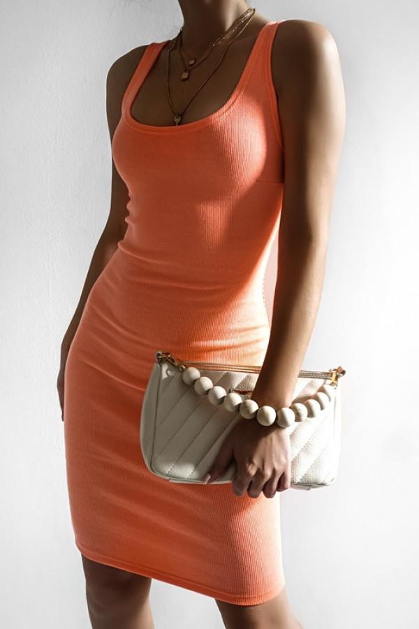 Sukienka MALWI neon orange 1
