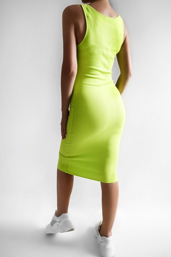Sukienka LENA limonka 2
