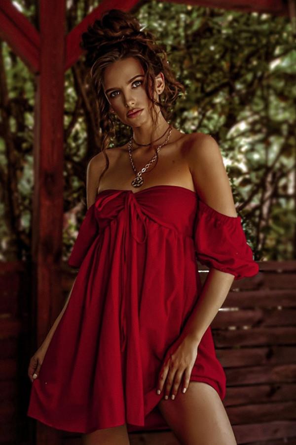 Sukienka MERIDA red 1