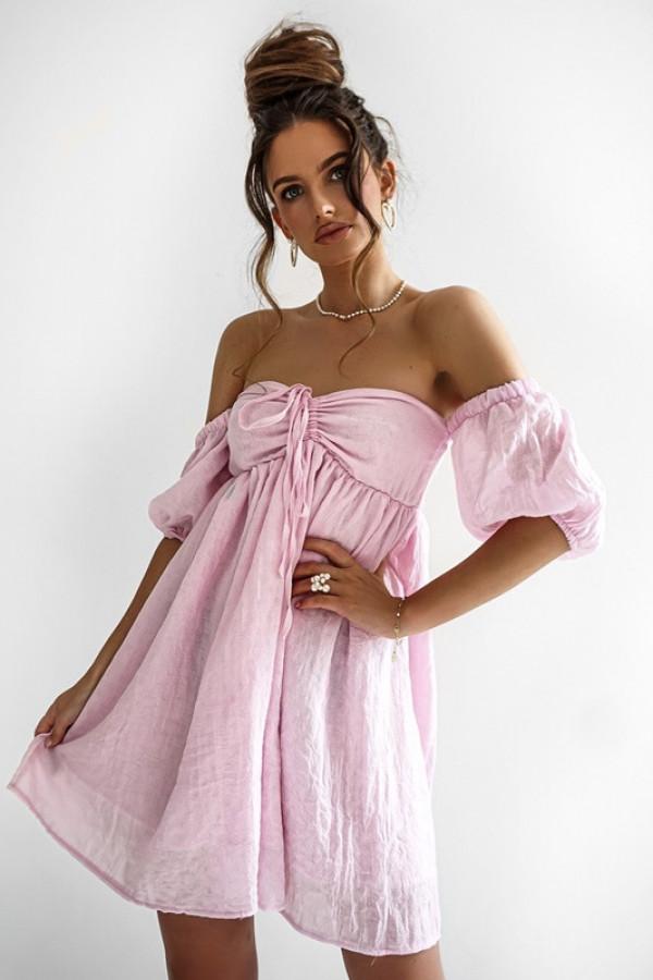 Sukienka MERIDA light pink 2