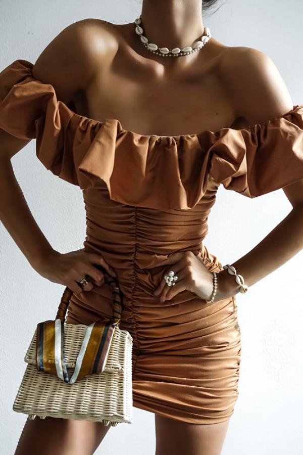 Sukienka LETA karmel