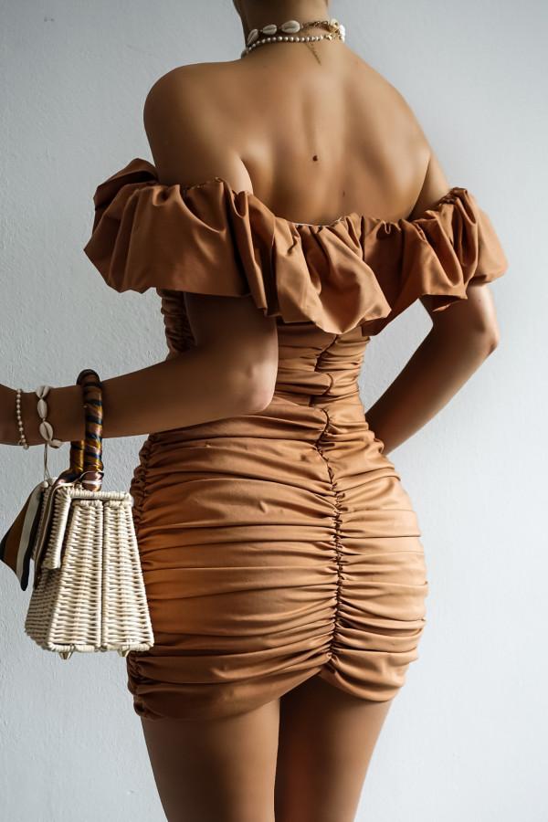 Sukienka LETA karmel 1