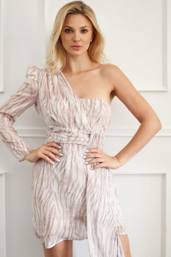 Asymetryczna sukienka MELODY beige