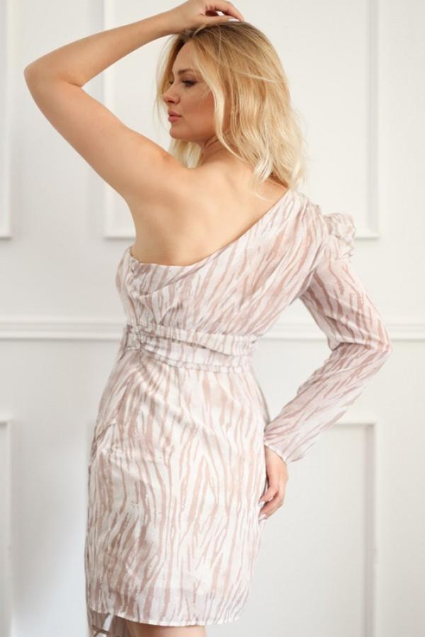Asymetryczna sukienka MELODY beige 2