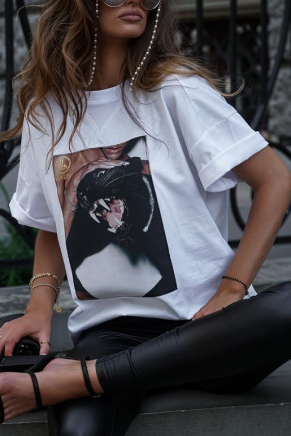 T-shirt CAT white