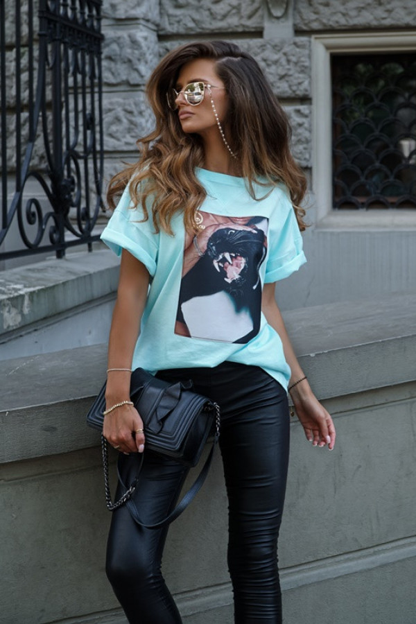 T-shirt CAT mint 1