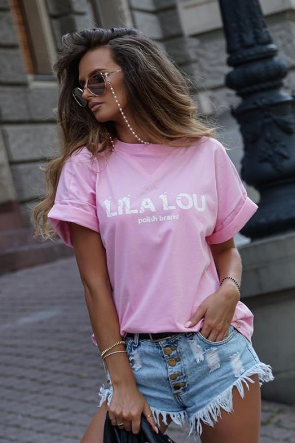 T-shirt logo BASIC pink 1