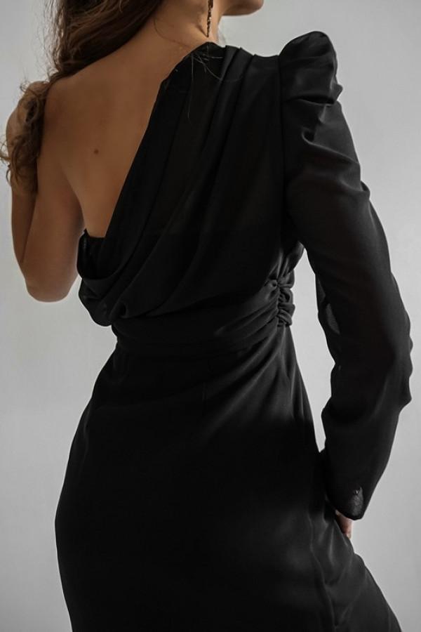 Asymetryczna sukienka MELODY black 1