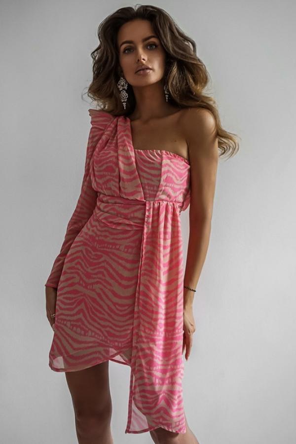 Asymetryczna sukienka MELODY pink