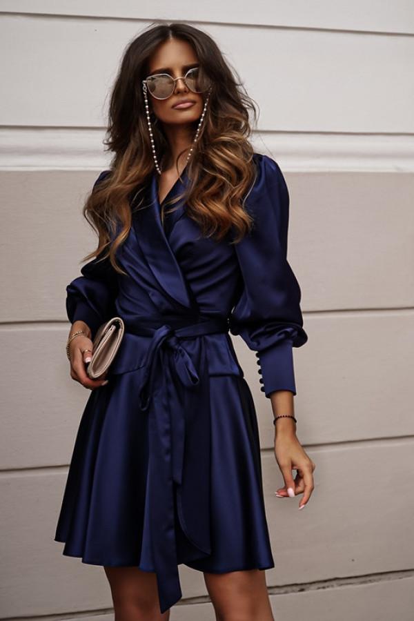 Sukienka CAROLINE navy blue
