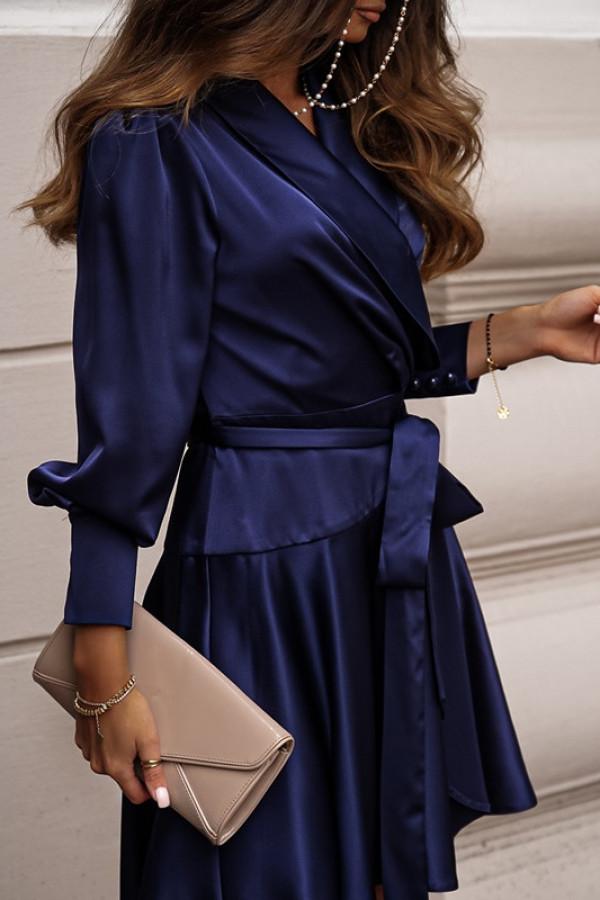 Sukienka CAROLINE navy blue 2