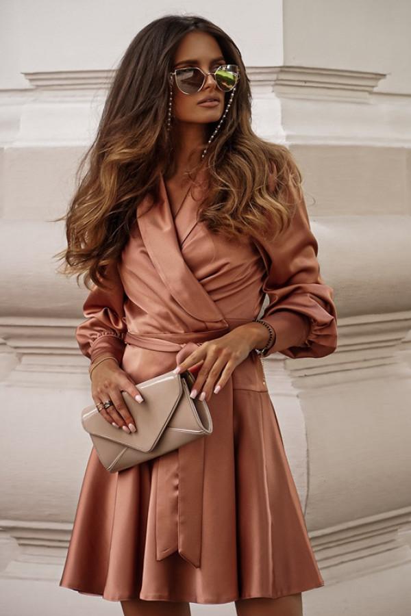 Sukienka CAROLINE champagne pink