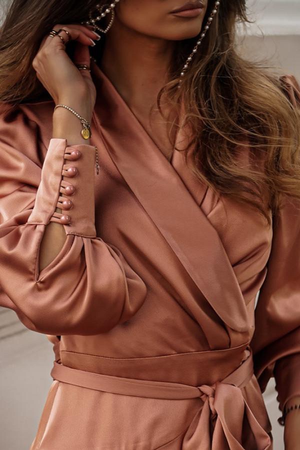 Sukienka CAROLINE champagne pink 1