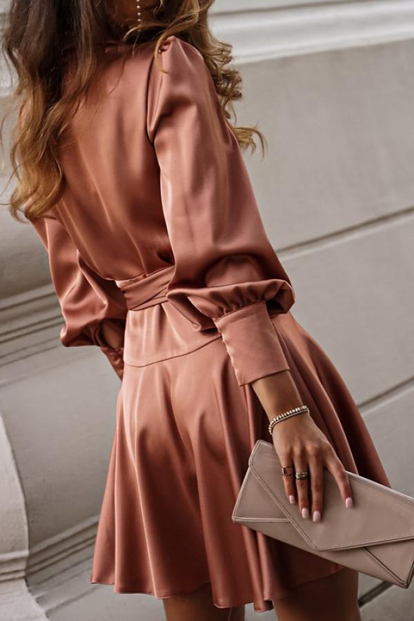 Sukienka CAROLINE champagne pink 2