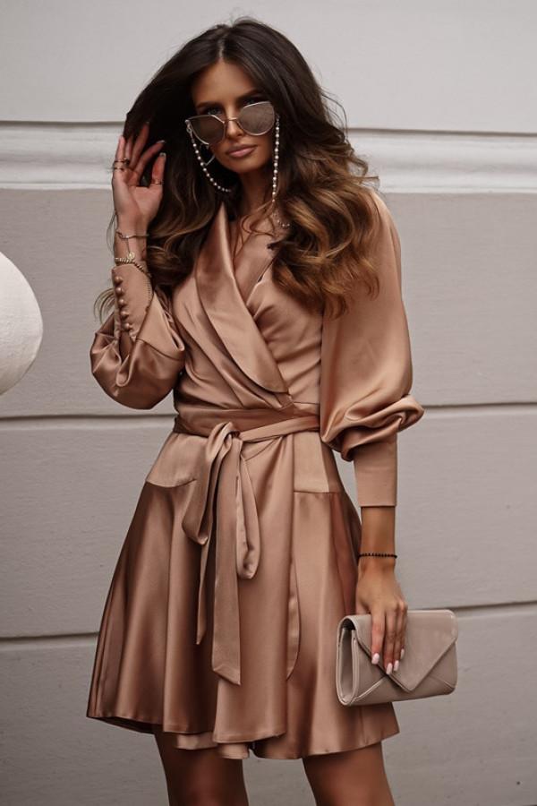 Sukienka CAROLINE beige