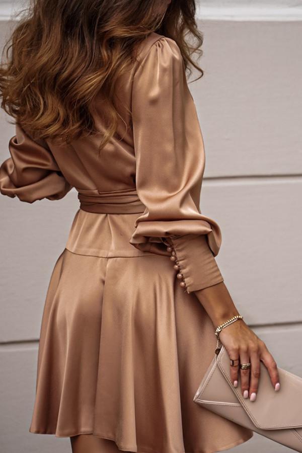 Sukienka CAROLINE beige 2