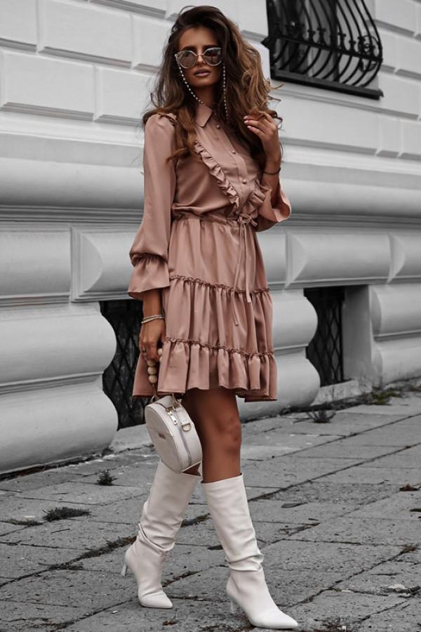 Sukienka LUNA karmel