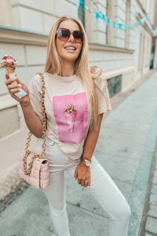 T-shirt LILALOU beige-pink 1
