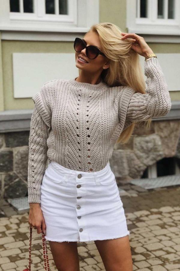 Sweter BUTTERFLY BEIGE
