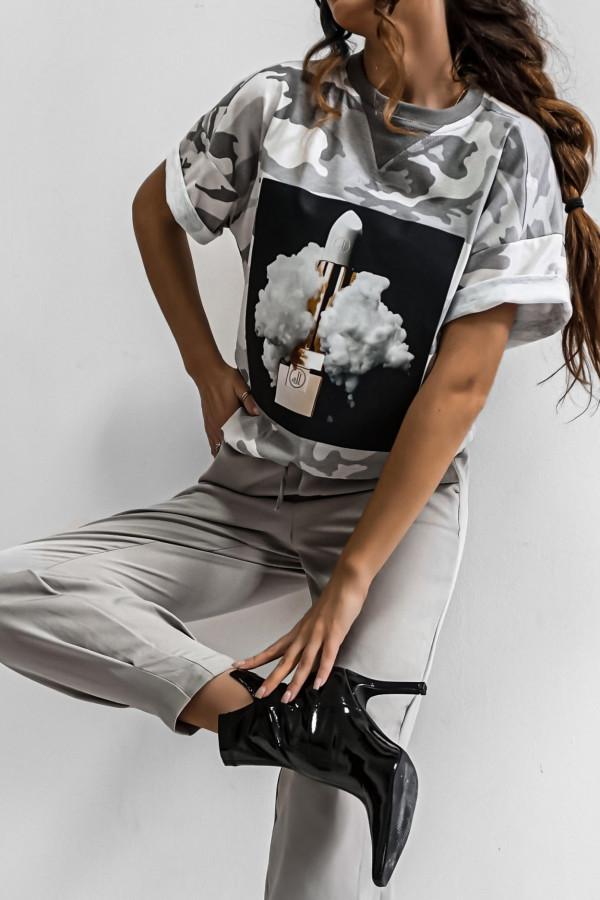 T-shirt LIPSTICK MORO GREY