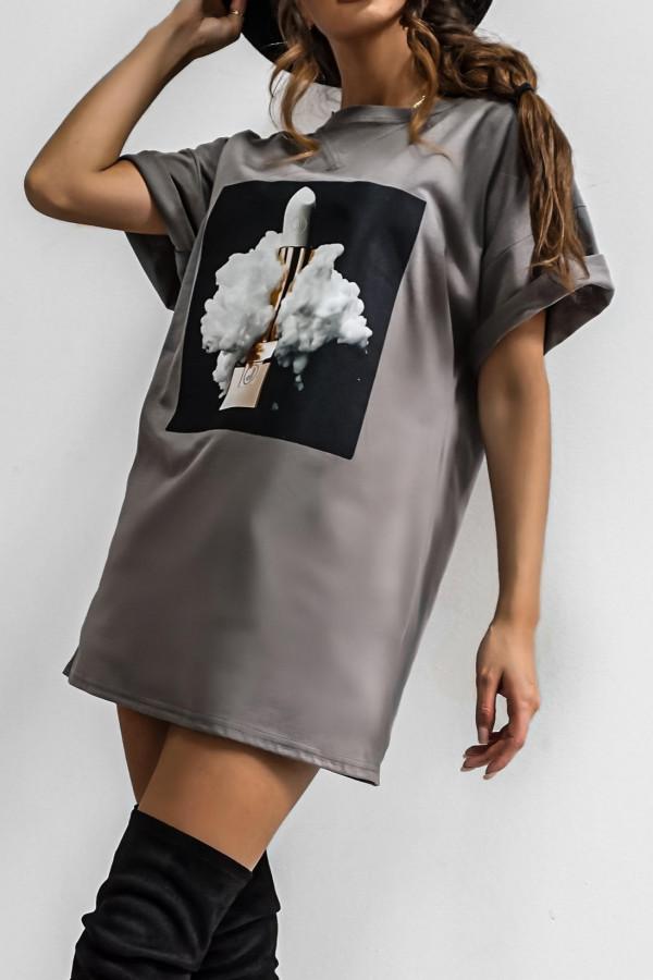 T-shirt LIPSTICK GRAPHITE 2
