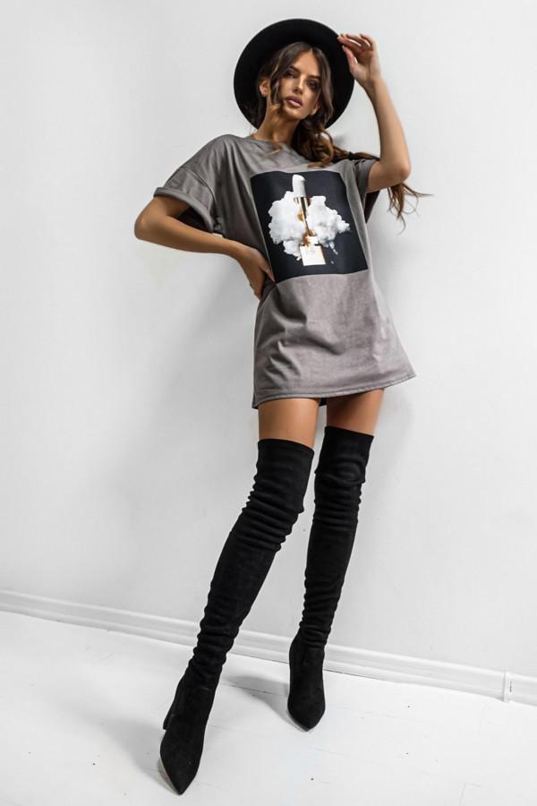 T-shirt LIPSTICK GRAPHITE 3