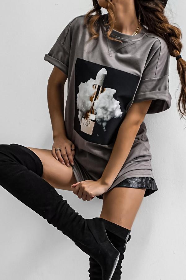 T-shirt LIPSTICK GRAPHITE 1