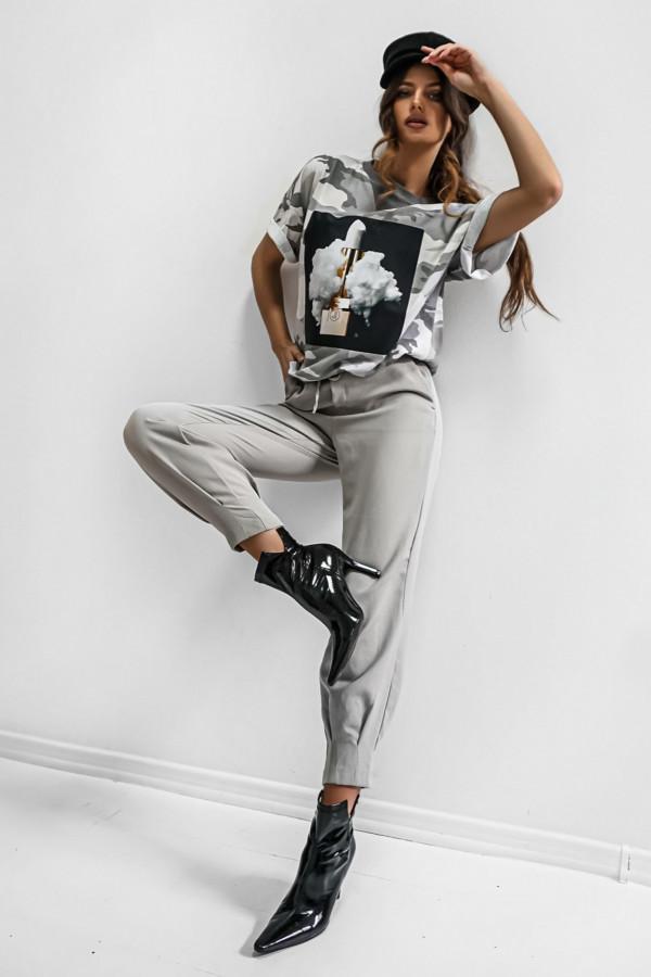 T-shirt LIPSTICK MORO GREY 2