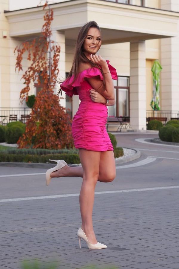 Sukienka LETA Fuksja